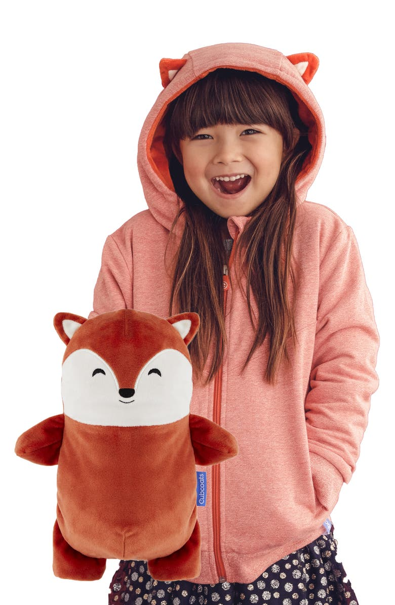 CUBCOATS Flynn 2-in-1 Stuffed Animal Hoodie, Main, color, BURNT ORANGE