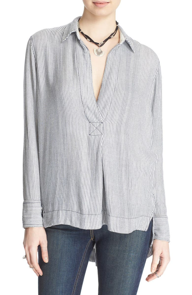 FREE PEOPLE 'On the Road' Stripe Tunic Top, Main, color, 020