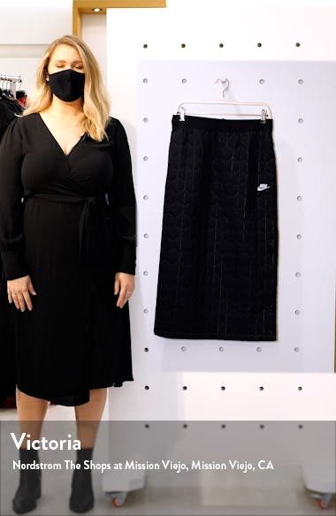 Sportswear Quilted Midi Skirt, sales video thumbnail