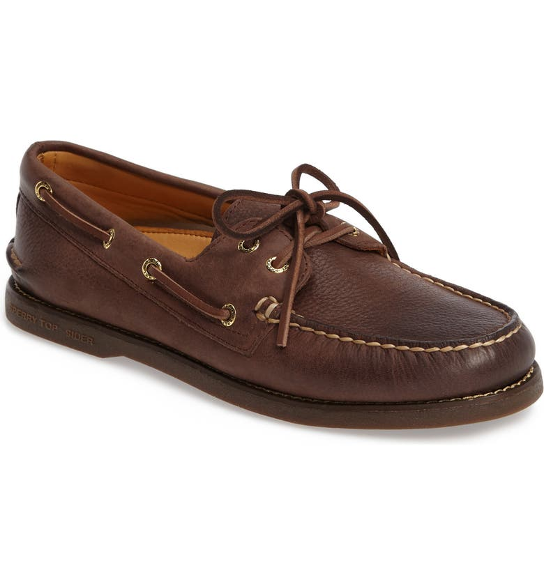 SPERRY 'Gold Cup - Authentic Original' Boat Shoe, Main, color, CHOCOLATE