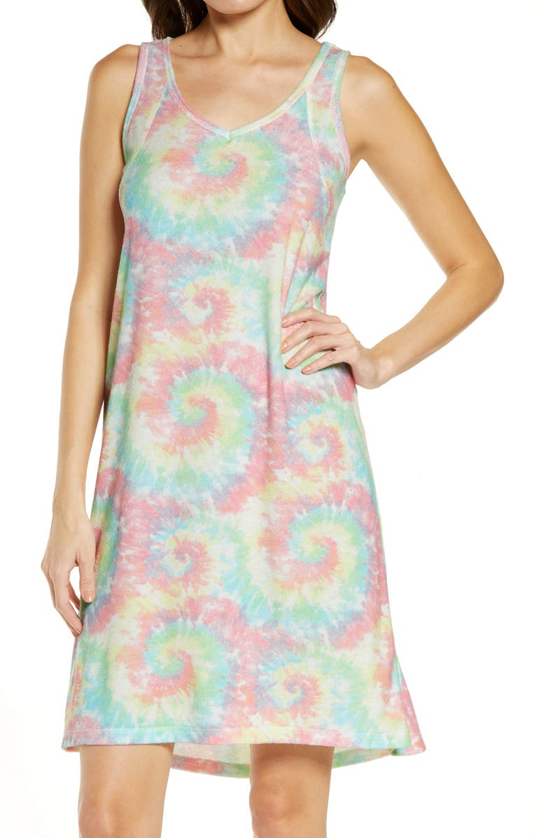 EMERSON ROAD Tie Dye Chemise, Main, color, LULLABY TIE DYE ABO PINK