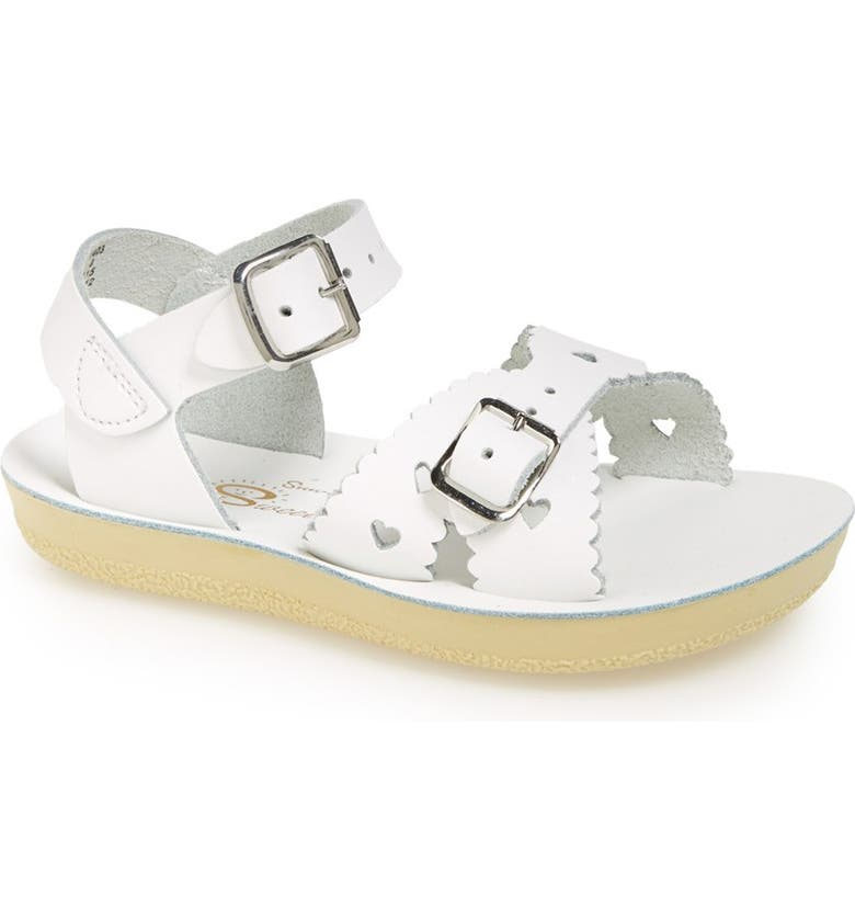 SALT WATER SANDALS BY HOY Sun San Sweetheart Sandal, Main, color, WHITE