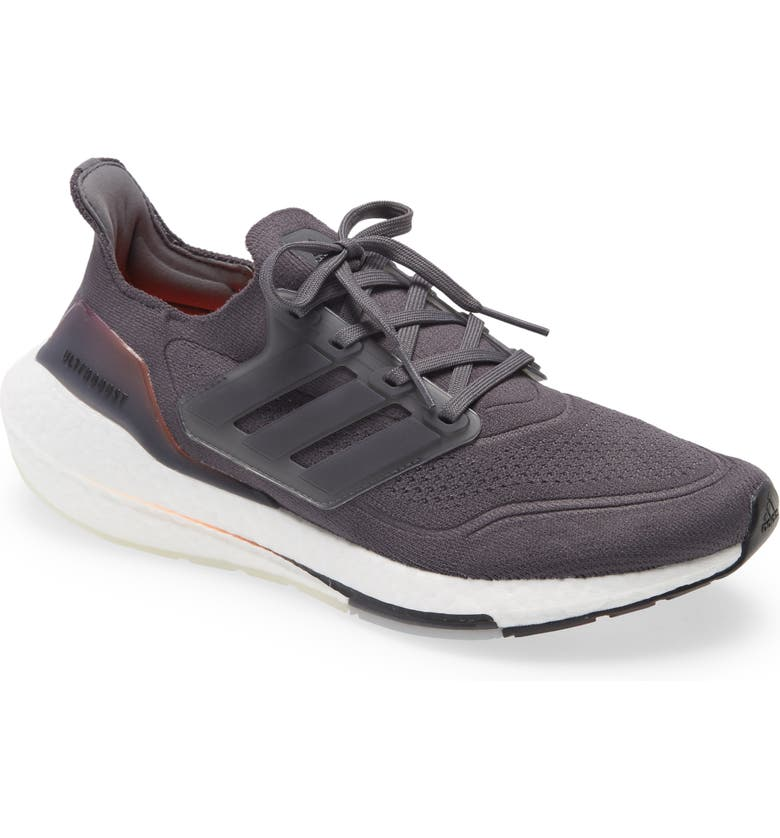 ADIDAS UltraBoost 21 Running Shoe, Main, color, GREY FIVE/ GREY FIVE/ ORANGE