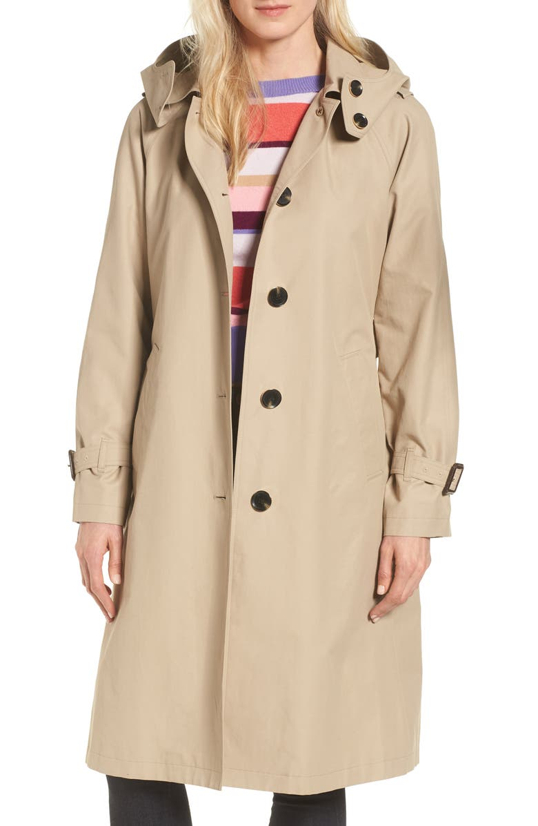MICHAEL MICHAEL KORS Hooded Trench Coat, Main, color, 250
