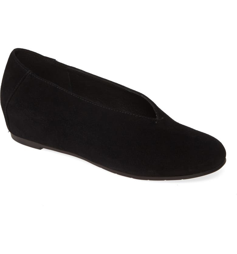 EILEEN FISHER Patch Flat, Main, color, BLACK SUEDE