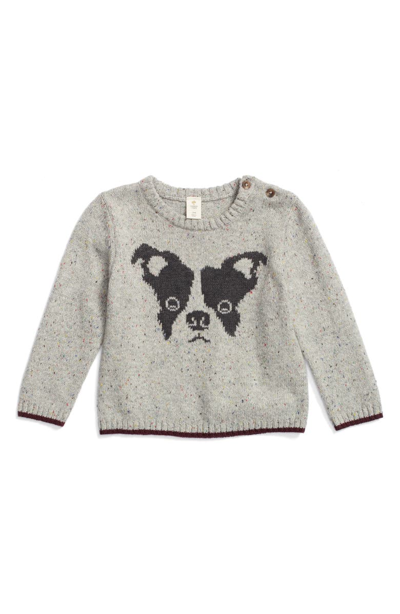 TUCKER + TATE Intarsia Knit Dog Sweater, Main, color, 050