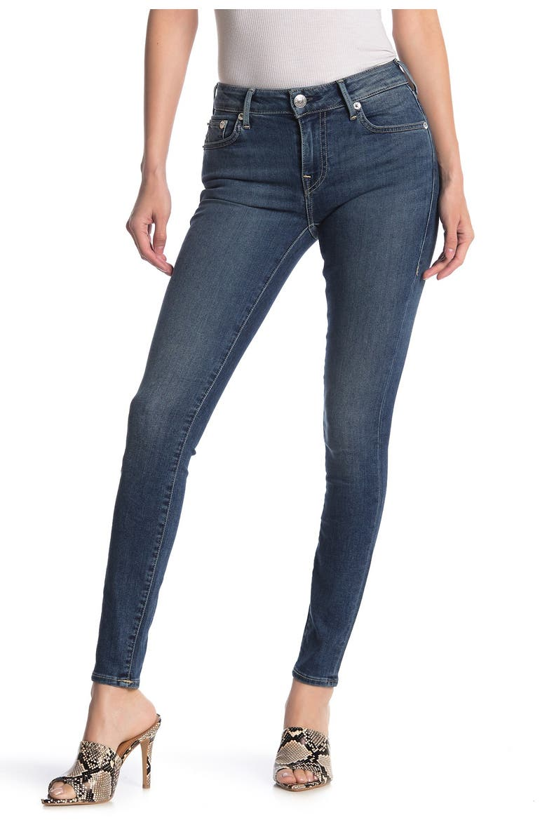 TRUE RELIGION Jennie Mid Rise Skinny Jeans, Main, color, COOKIE CUT