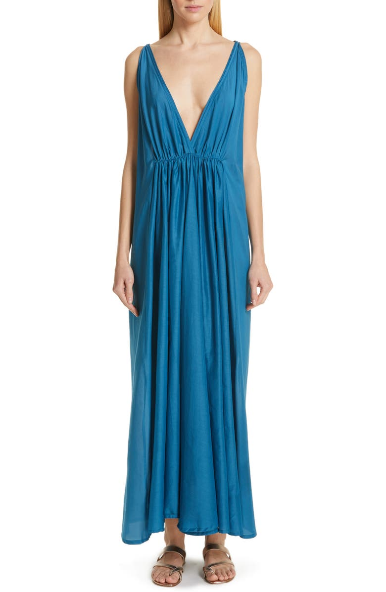 KALITA Clemence Cotton & Silk Maxi Dress, Main, color, 400