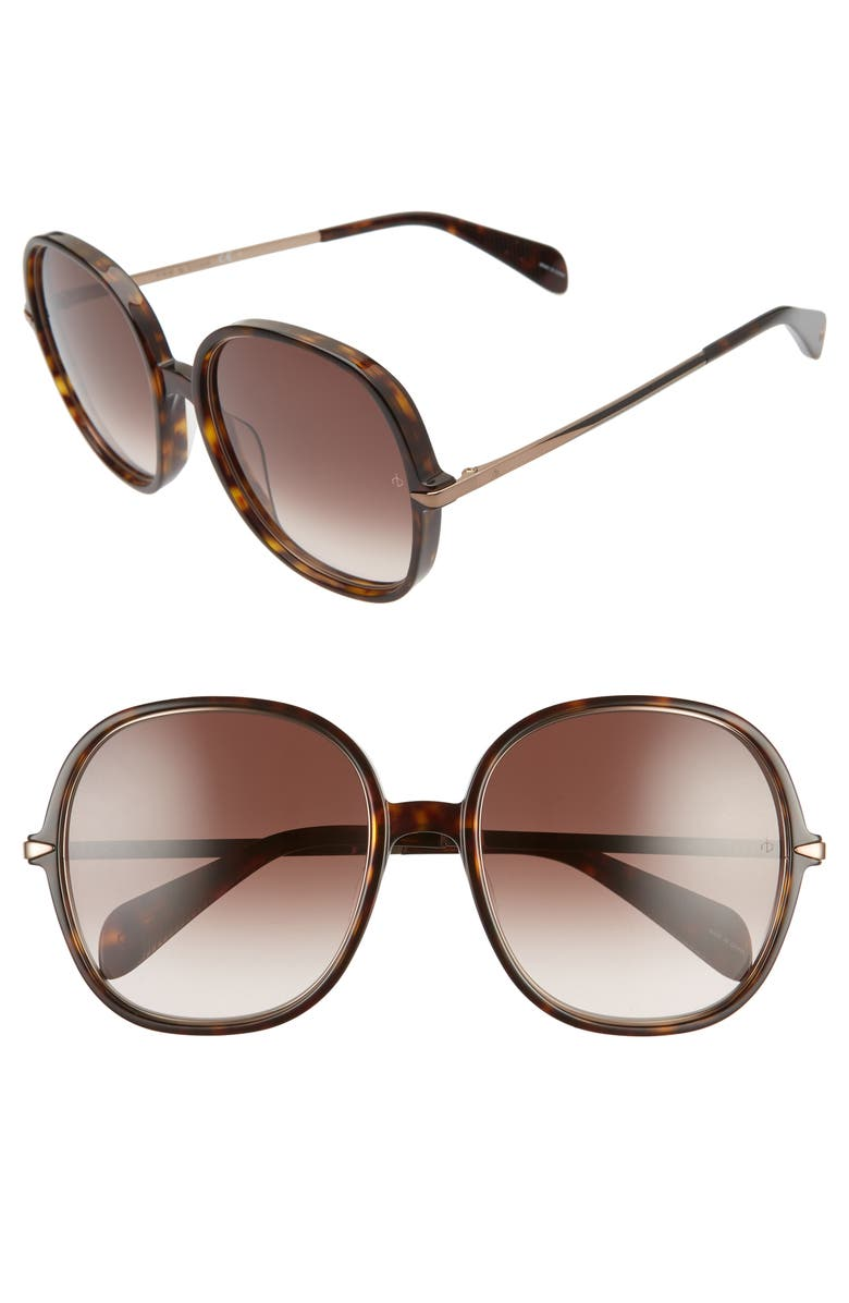 RAG & BONE 59mm Gradient Round Sunglasses, Main, color, 210