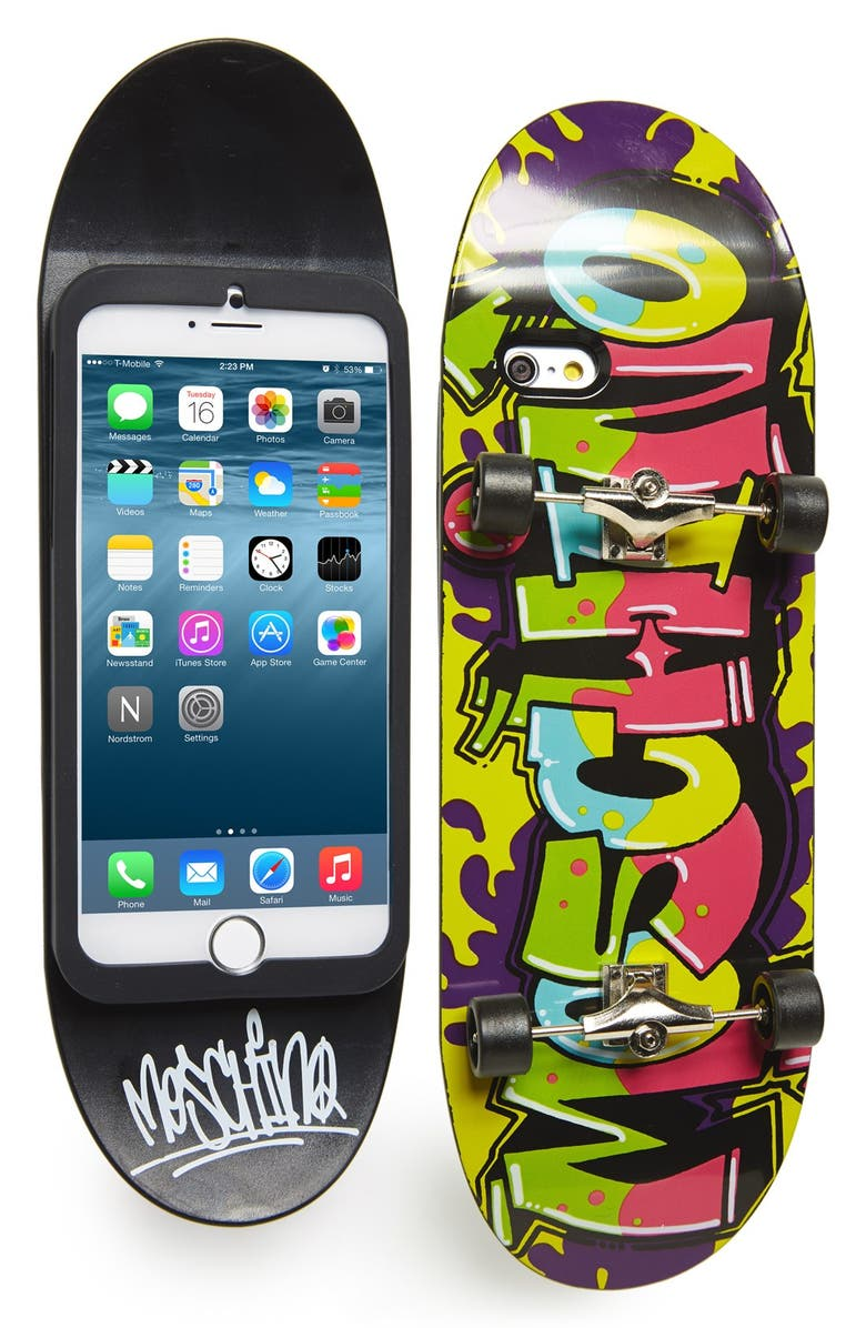 MOSCHINO Skateboard iPhone 6 & 6s Case, Main, color, 001