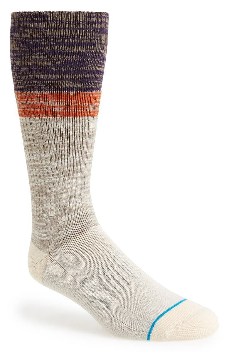 STANCE 'The Reserve - Scout' Socks, Main, color, Brown