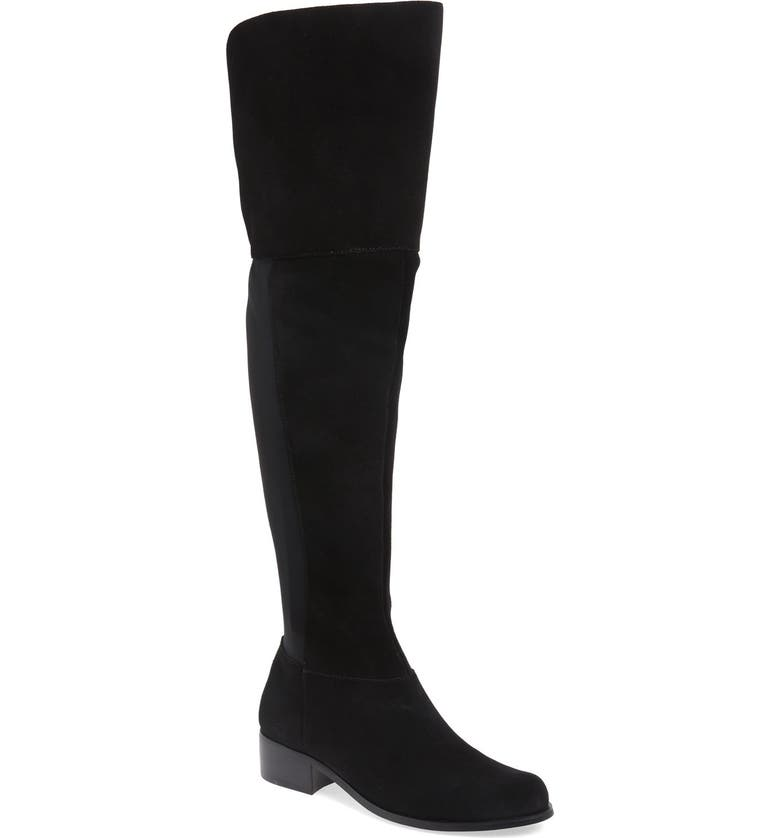 CHARLES BY CHARLES DAVID 'Giza' Over the Knee Boot, Main, color, BLACK SUEDE