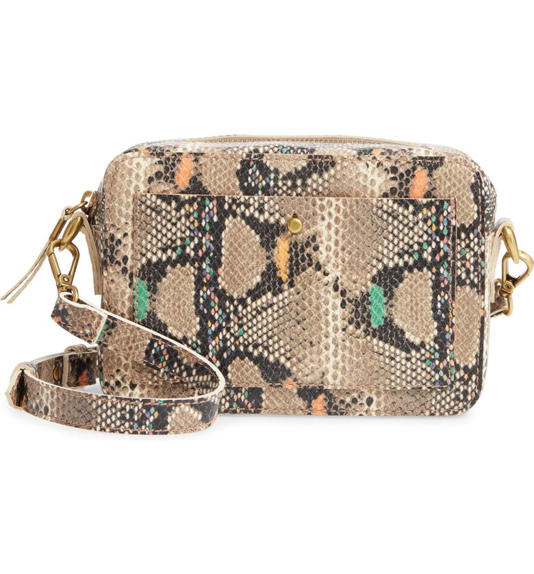 MADEWELL The Transport Camera Bag: Snake Embossed Edition, Main, color, 250
