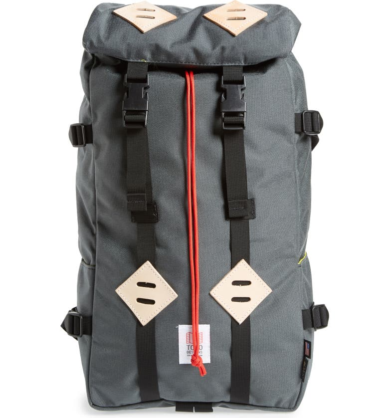 TOPO DESIGNS 'Klettersack' Backpack, Main, color, CHARCOAL