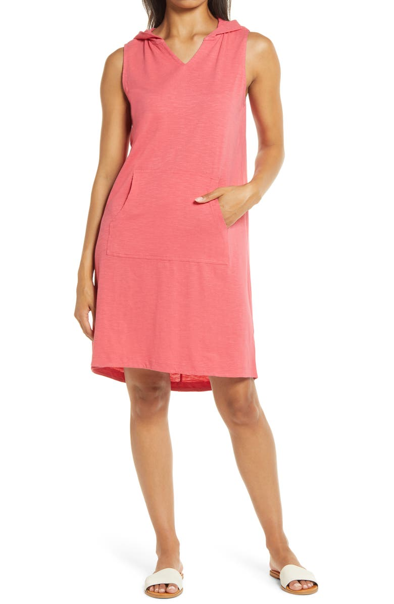 CASLON<SUP>®</SUP> Hooded Knit Tank Dress, Main, color, RED CHATEAUX