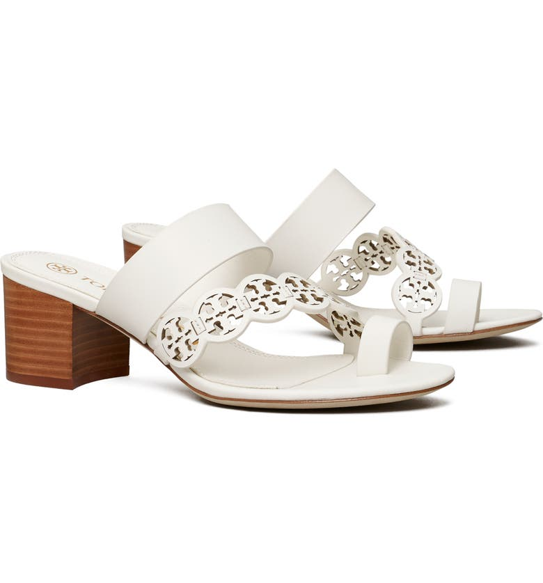 TORY BURCH Tiny Miller Block Heel Sandal, Main, color, NEW IVORY