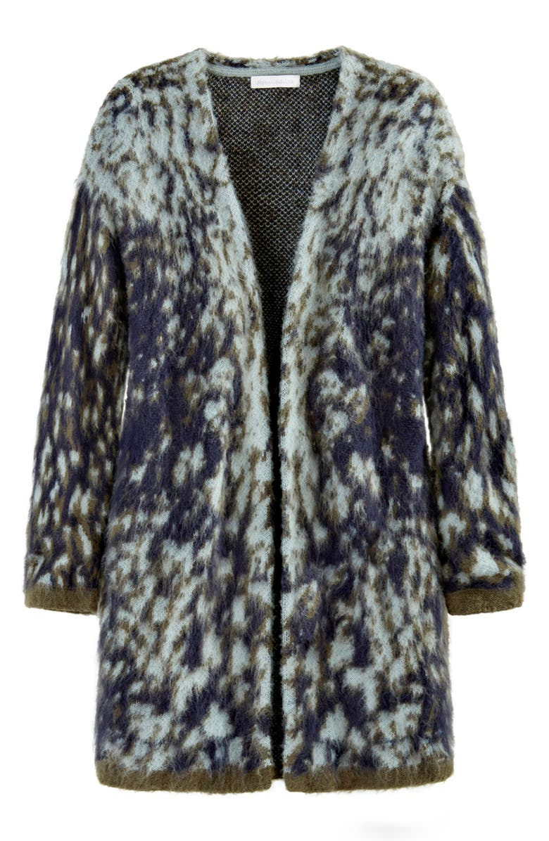 ADYSON PARKER Brushed Abstract Open Cardigan, Main, color, DEEP NAVY COMBO
