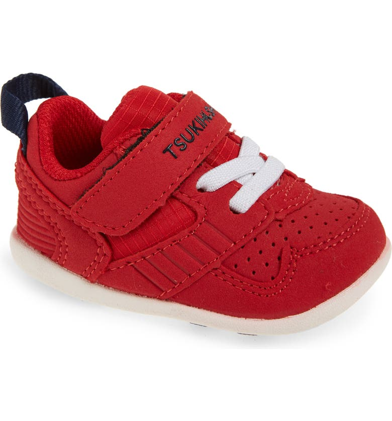 TSUKIHOSHI Kids' Racer Washable Sneaker, Main, color, RED/ NAVY