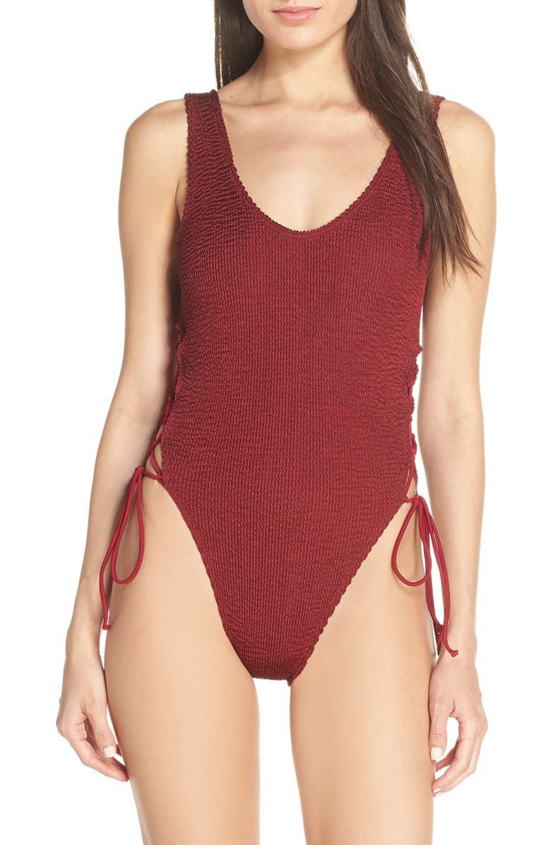BOUND BY BOND-EYE The Margot One-Piece Swimsuit, Main, color, 600