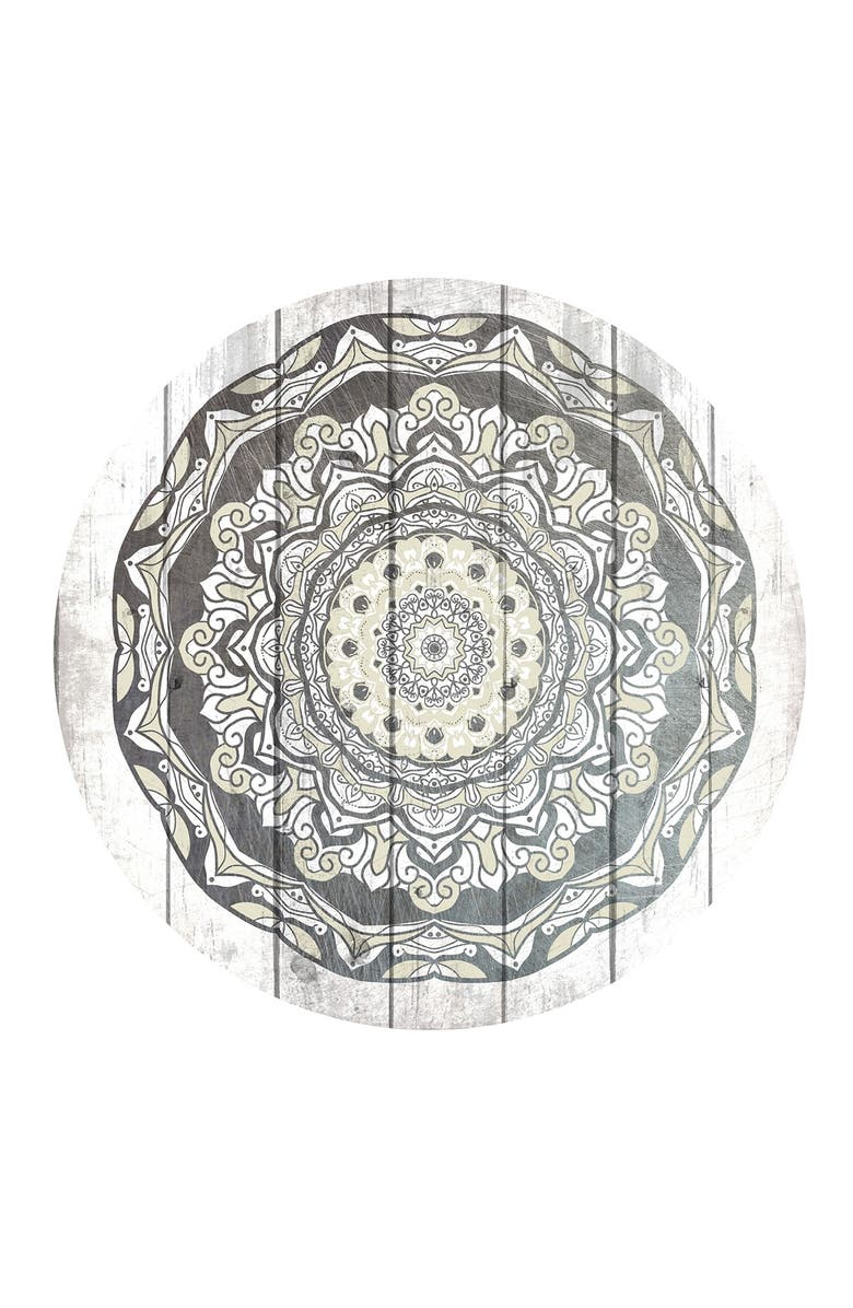 """COURTSIDE MARKET Aged Mandala III 30"""" x 30"""" Gallery Art Decal, Main, color, MULTI COLOR"""