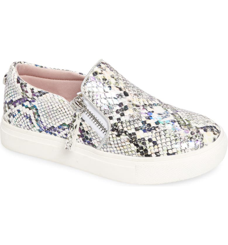 STEVE MADDEN Glam Snake Print Slip-On Sneaker, Main, color, IRIDESCENT SNAKE