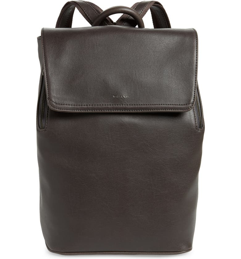MATT & NAT 'Fabi' Faux Leather Laptop Backpack, Main, color, 020
