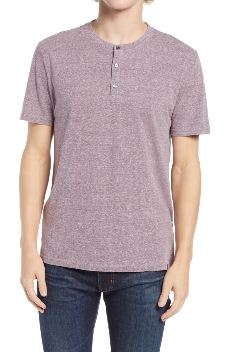 THREADS 4 THOUGHT Men's Slub Henley, Main, color, DARK PLUM