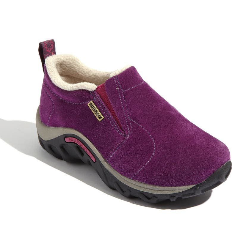 MERRELL 'Jungle Moc - Frosty' Waterproof Slip-On, Main, color, WINEBERRY
