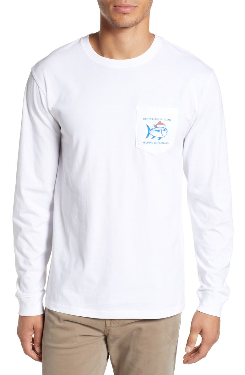 SOUTHERN TIDE 'Twas the Day After Christmas T-Shirt, Main, color, CLASSIC WHITE