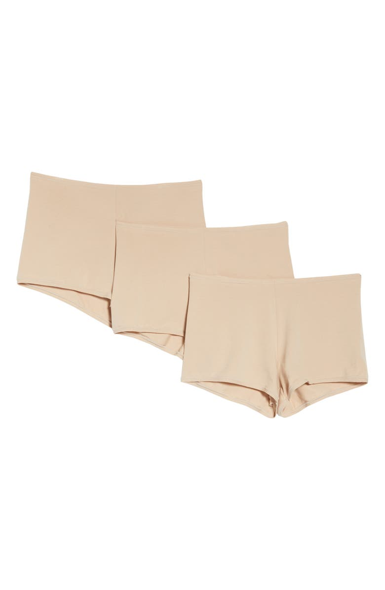 NATORI Bliss Comfort 3-Pack Boyshorts, Main, color, CAF