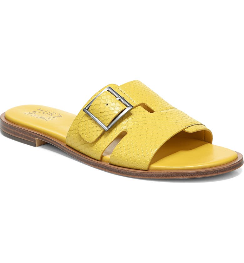 NATURALIZER Faryn Slide Sandal, Main, color, DAISY YELLOW LEATHER