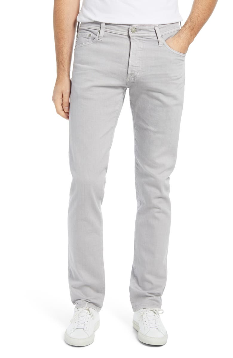 AG Tellis Slim Fit Stretch Jeans, Main, color, 7 YEARS SULFUR SMOKY ASH