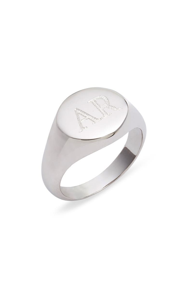ARGENTO VIVO STERLING SILVER Argento Vivo Personalized Signet Ring, Main, color, 040