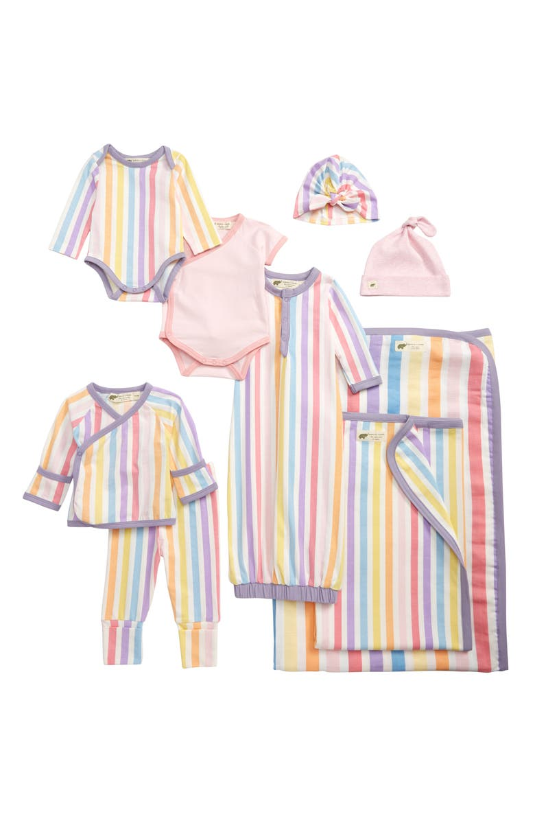 MONICA + ANDY Rainbow Stripes 9-Piece Bundle Gift Set, Main, color, 650