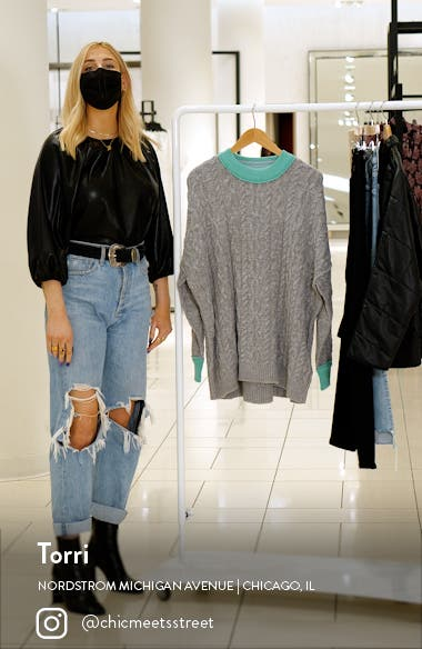Olympia Colorblock Sweater, sales video thumbnail