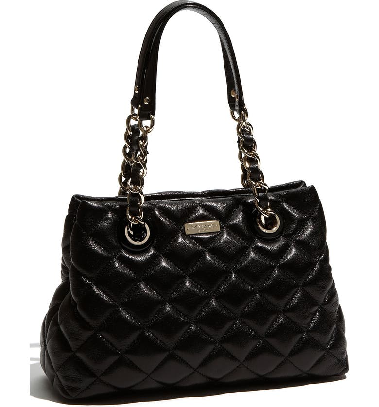 KATE SPADE NEW YORK 'gold coast - maryanne small' quilted leather shopper, Main, color, Black
