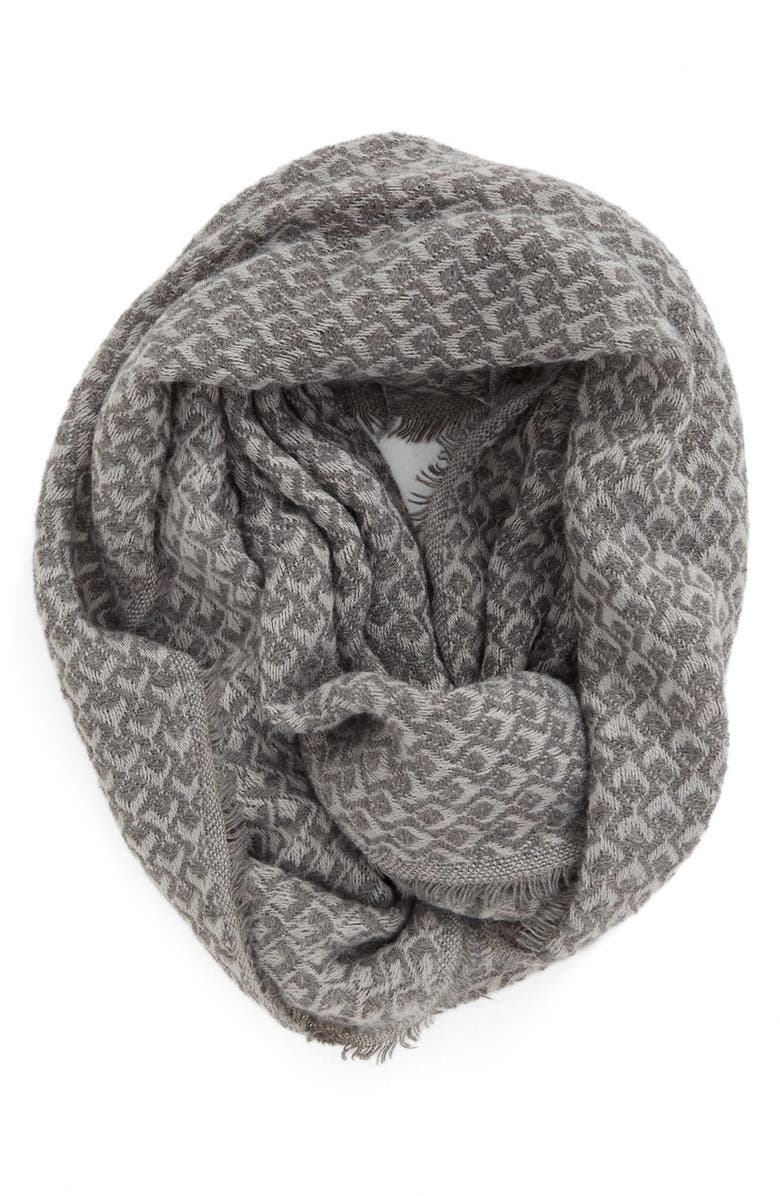 BP. Textured Knit Infinity Scarf, Main, color, GREY