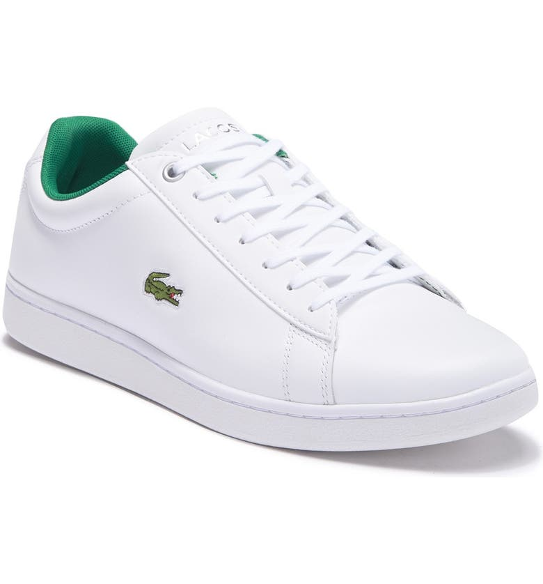 LACOSTE Hydez Leather Sneaker, Main, color, WHITE/GREENDNU