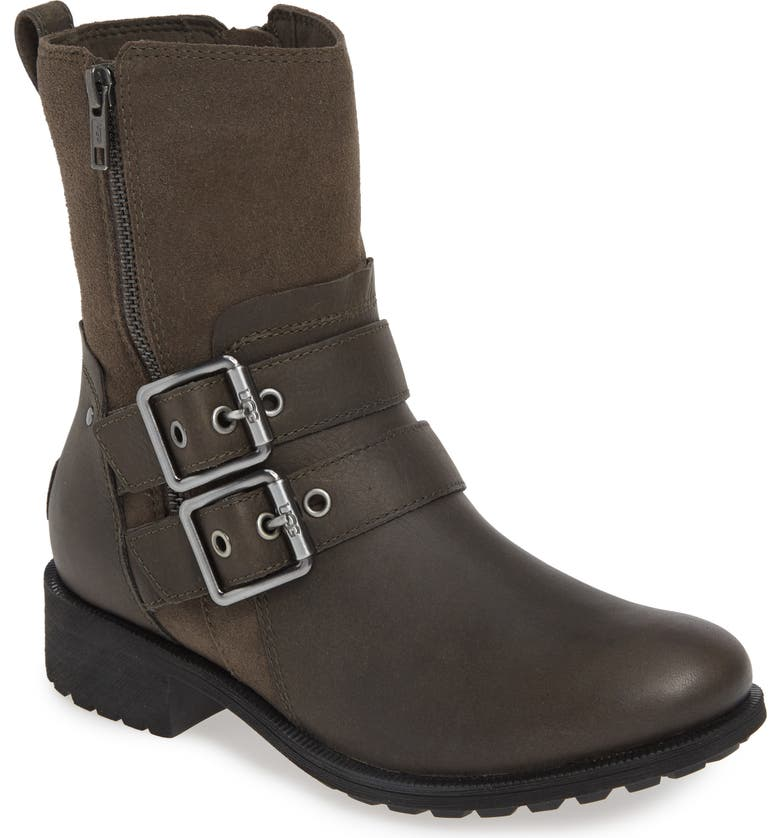 UGG<SUP>®</SUP> Wilde Waterproof Leather Boot, Main, color, SLATE LEATHER