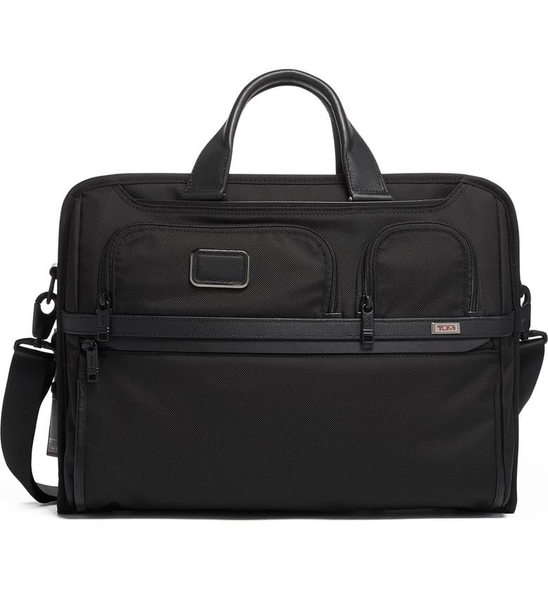 TUMI Alpha 3 Compact Large 15-Inch Laptop Briefcase, Main, color, BLACK