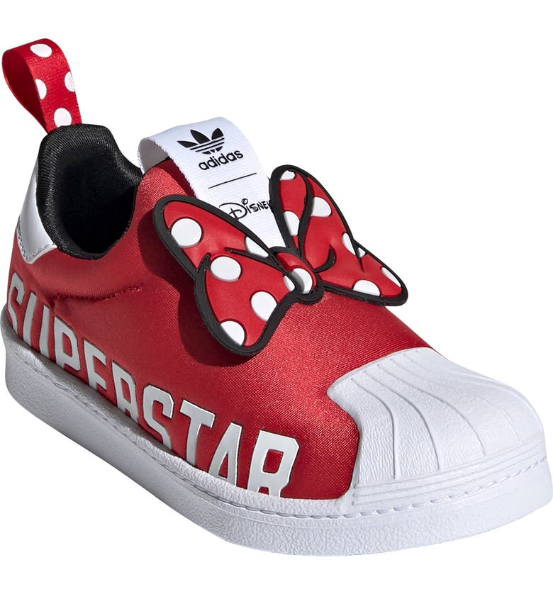 ADIDAS Superstar 360 x Disney Sneaker, Main, color, WHITE/ SCARLET/ BLACK