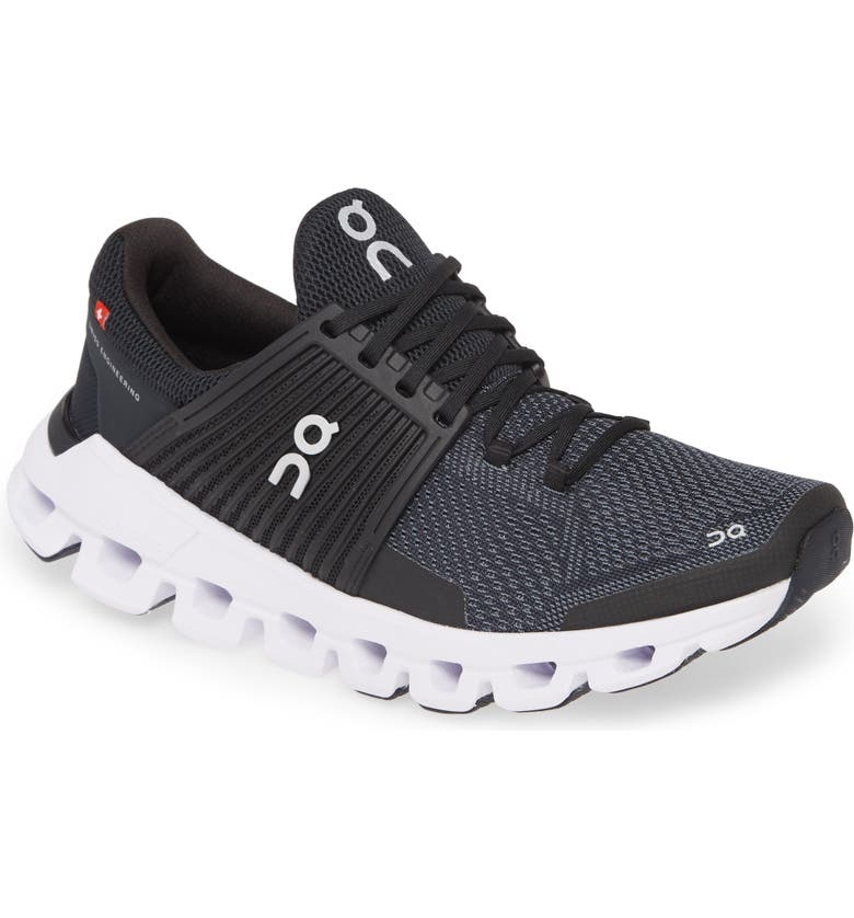 ON Cloudswift Running Shoe, Main, color, BLACK/ ROCK