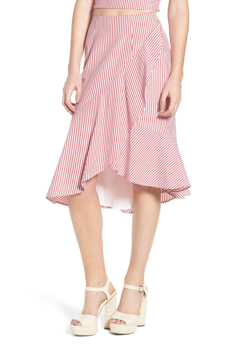 WAYF Naples Ruffle Skirt, Main, color, 600