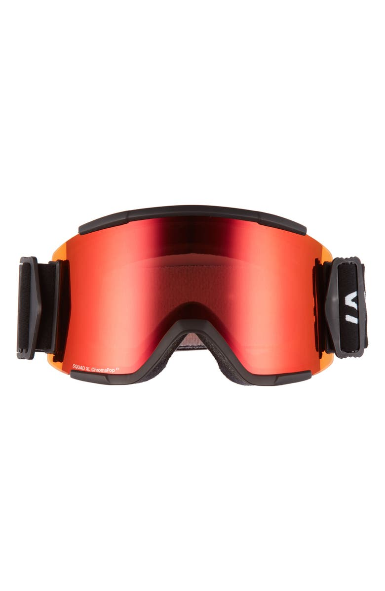 SMITH Squad XL 185mm Snow Goggles, Main, color, BLACK/ EVERYDAY RED MIRROR