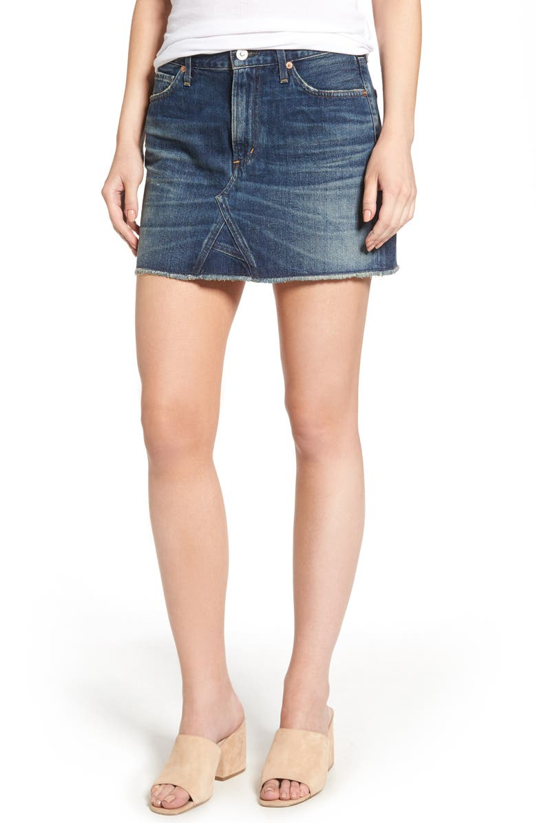 CITIZENS OF HUMANITY Denim Miniskirt, Main, color, 400