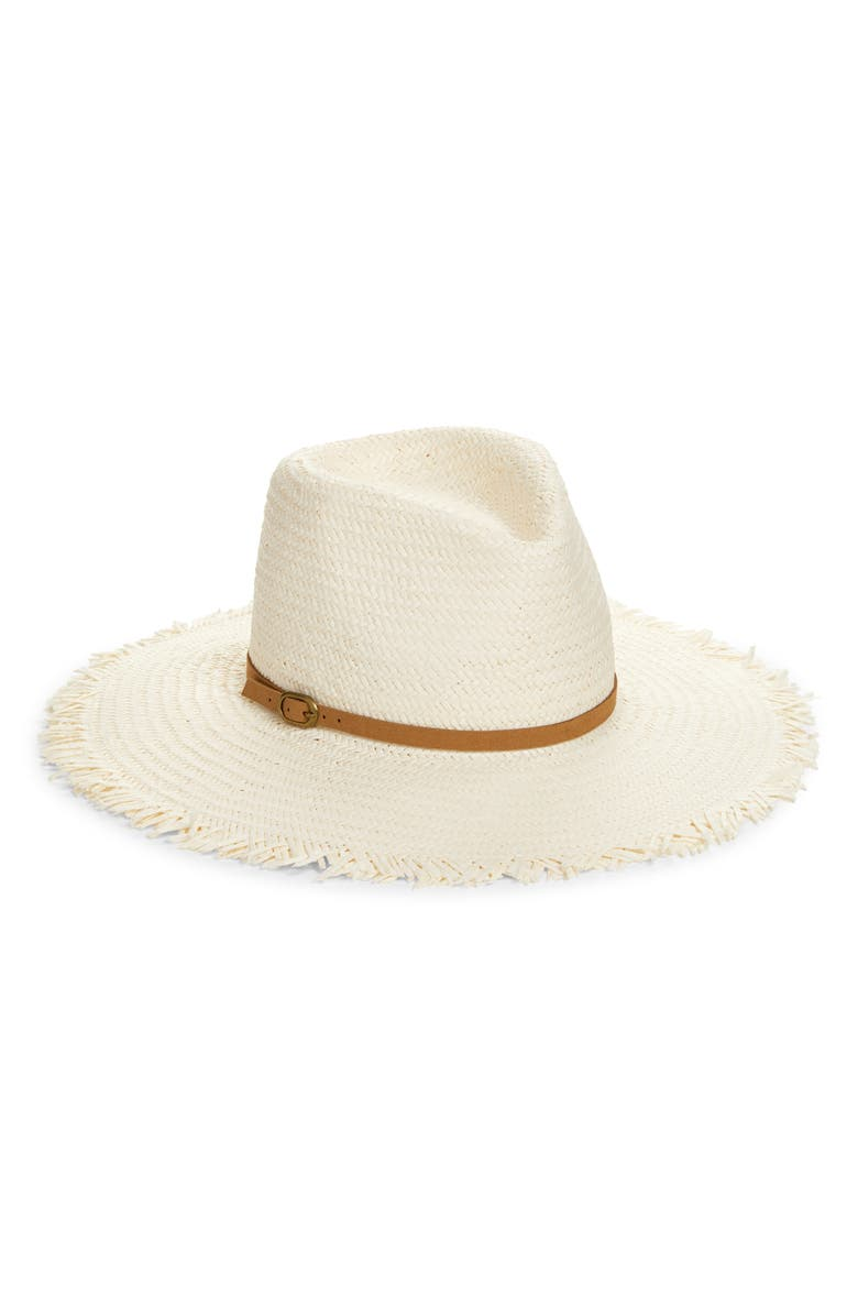TREASURE & BOND Frayed Rancher Hat with Buckle, Main, color, 900