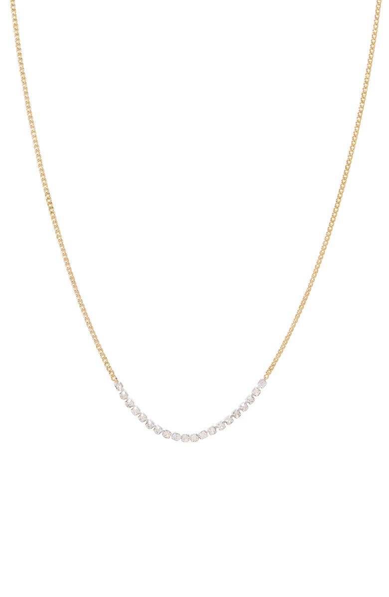 GORJANA Wilder Cubic Zirconia Necklace, Main, color, WHITE CRYSTAL/ GOLD/ SILVER