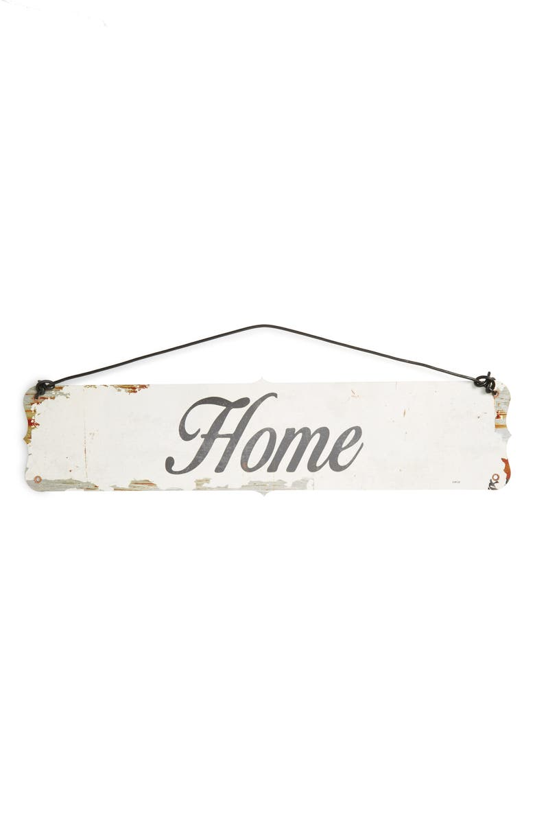 PONCHO & GOLDSTEIN Home Wall Sign, Main, color, HOME
