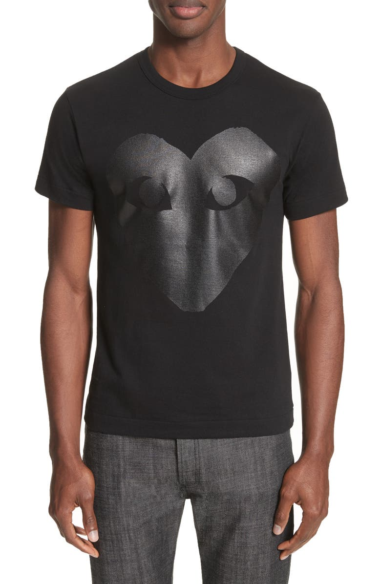 COMME DES GARÇONS PLAY Graphic Tee, Main, color, BLACK