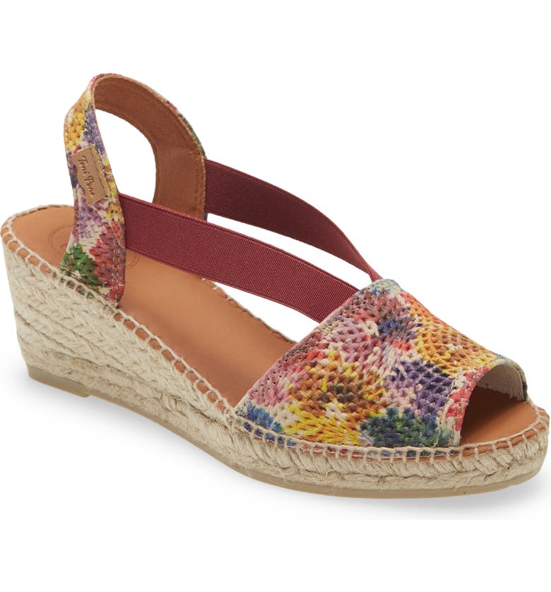 TONI PONS Teide Espadrille Sandal, Main, color, MULTI LEATHER